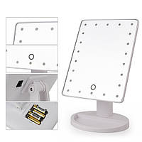 Зеркало с LED подсветкой Large LED Mirror, зеркало для маникюра, Настольное зеркало с подсветкой Makeup Mirror