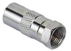 Адаптер Hama 00047520 F-штекер - коаксіальний кабель Сріблястий