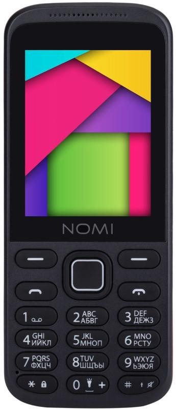 Мобильный телефон Nomi i244 Black-Red (Черно-красный)