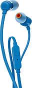 Наушники вакуумные с микрофоном JBL T110 T110BLU Синий