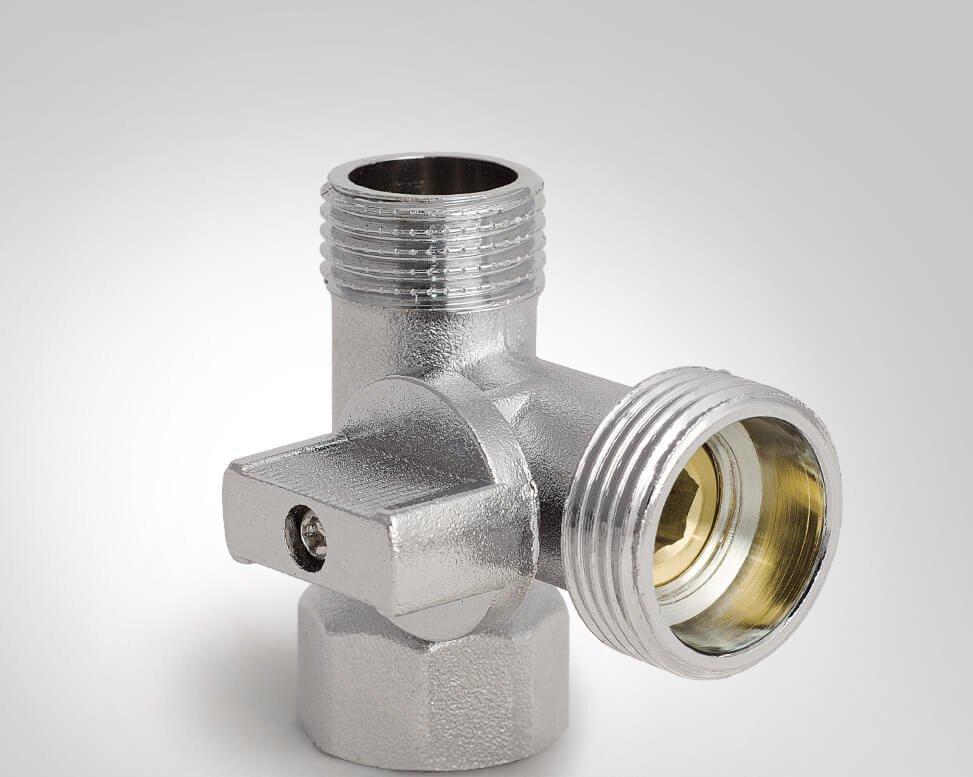Хромированный вентиль 1/2х3/4х1/2 Koer KR.515