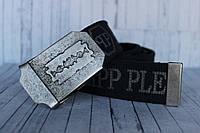 Ремень тканевый стропа Philipp Plein синий в джинсы