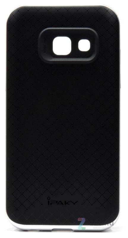 Чехол накладка iPaky для Samsung A320F A3 (2017) TPU + PC Черный / серебристый