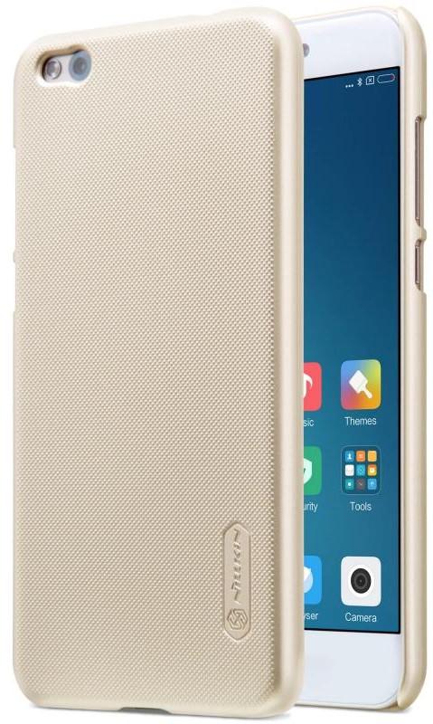 Чохол-накладка Nillkin для Xiaomi Mi 5c Matte ser. +плівка Золотистий(138865)