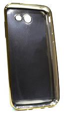 Чехол накладка для Samsung J330 J3 (2017) TPU Имитация кожи Темно коричневый (353112), фото 3