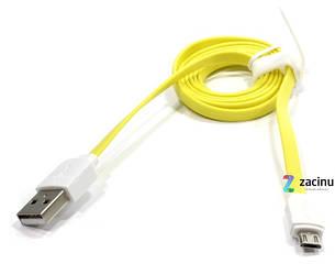 Кабель Rock USB-micro USB 100см Желтый (685323), фото 2