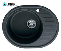 Гранитная мойка Tessa Spring maxi серая 97003