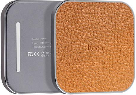 Беспроводной зарядное устройство Hoco CW2 Metal Wirelless Charger ser. серебристый, фото 2