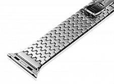 Ремінець Icarer для Apple iWatch 38mm Armor Stainless Watchband ser. Сріблястий, фото 2