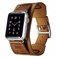 Ремешок Icarer для Apple iWatch 38mm Classic Genuine Leather ser. Светло-коричневый, фото 3