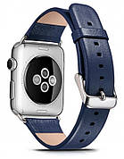 Ремешок Icarer для Apple iWatch 38mm Luxury Genuine Leather ser.Синий (992841)