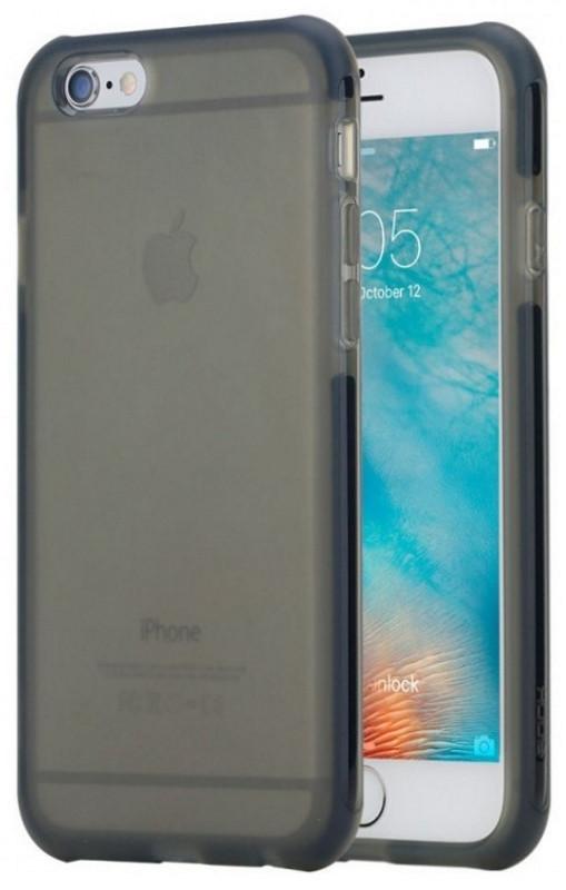 Чохол-накладка Rock для iPhone 6/6S Guard ser. Прозорий/чорний