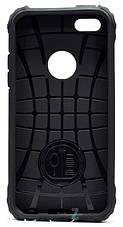 Чохол-накладка для iPhone 5/5S/SE Immortal ser. TPU+PC Сірий, фото 3