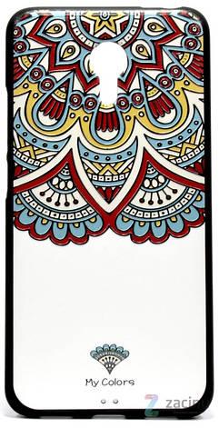 Чохол-накладка для Meizu M3 Note Rebus ser. Colors Білий, фото 2