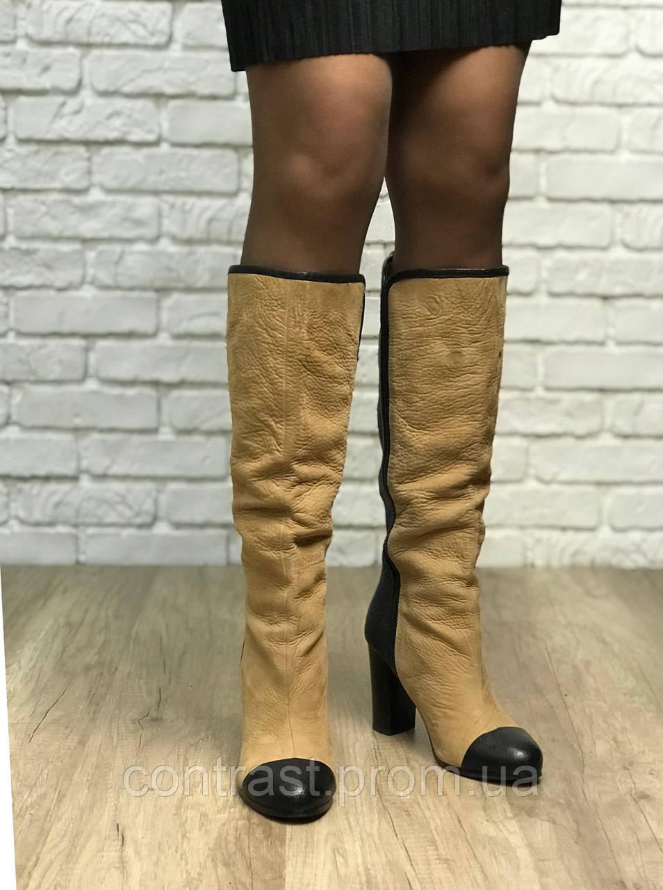 Сапоги Zara с контрастным носком SH1844162 ZARA