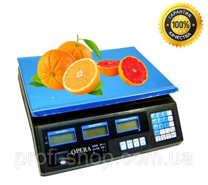 Весы товарные-торговые Opera Plus до 40 кг