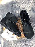 Женские угги UGG Classic Mini II черные с натуральной замшей, фото 3