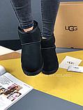 Женские угги UGG Classic Mini II черные с натуральной замшей, фото 6