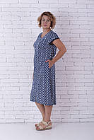 Халат літній жіночий блакитний на блискавці, фото 1
