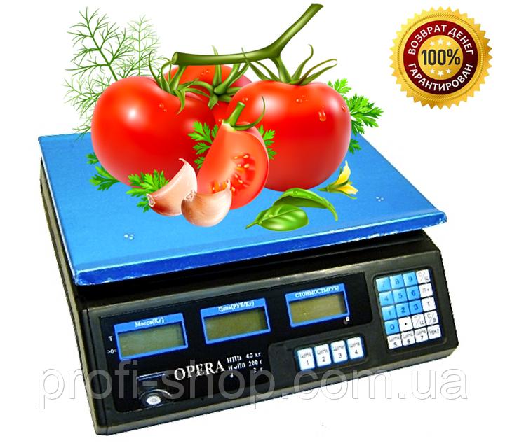 Торговые электронные весы Opera Plus до 40 кг