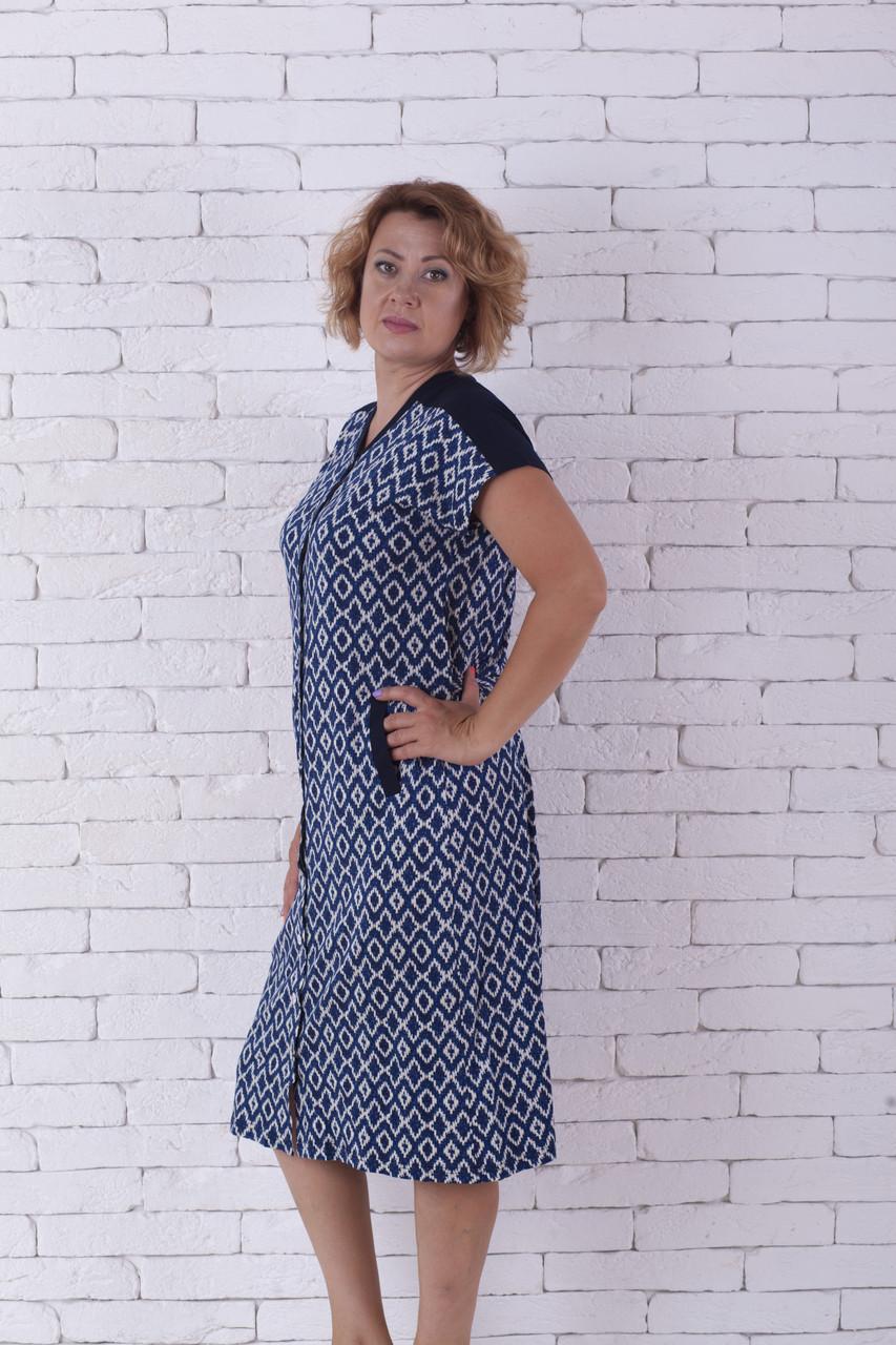 63ae44add42d Халат летний женский голубой на пуговицах купить в Харькове ...
