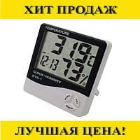 Универсальный термометр гигрометр с часами HTC-1!Спешите Купить