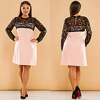 Платье женское с гипюром в расцветках 27383, фото 1