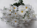 Ромашка мелкая, 7 цв.на ветке, в-42 см (10\6) (цена за 1 шт. + 4 гр.) , фото 3