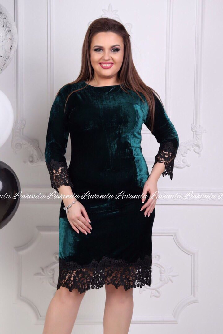 Женское нарядное платье с кружевом