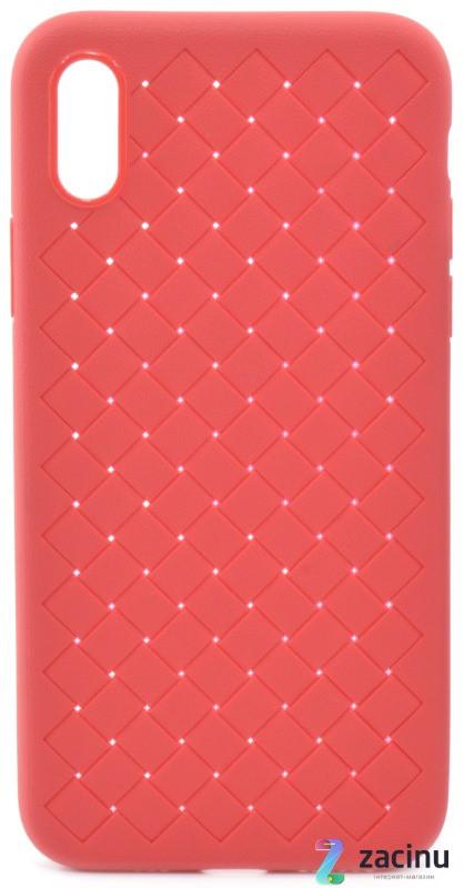 """Чехол накладка SKYQI для Apple iPhone X (5.8 """") Плетение Красный (402322)"""