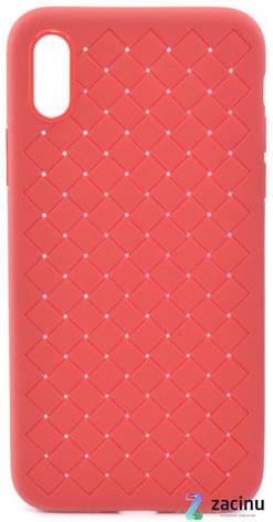 """Чехол накладка SKYQI для Apple iPhone X (5.8 """") Плетение Красный (402322), фото 2"""