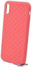 """Чехол накладка SKYQI для Apple iPhone X (5.8 """") Плетение Красный (402322), фото 3"""