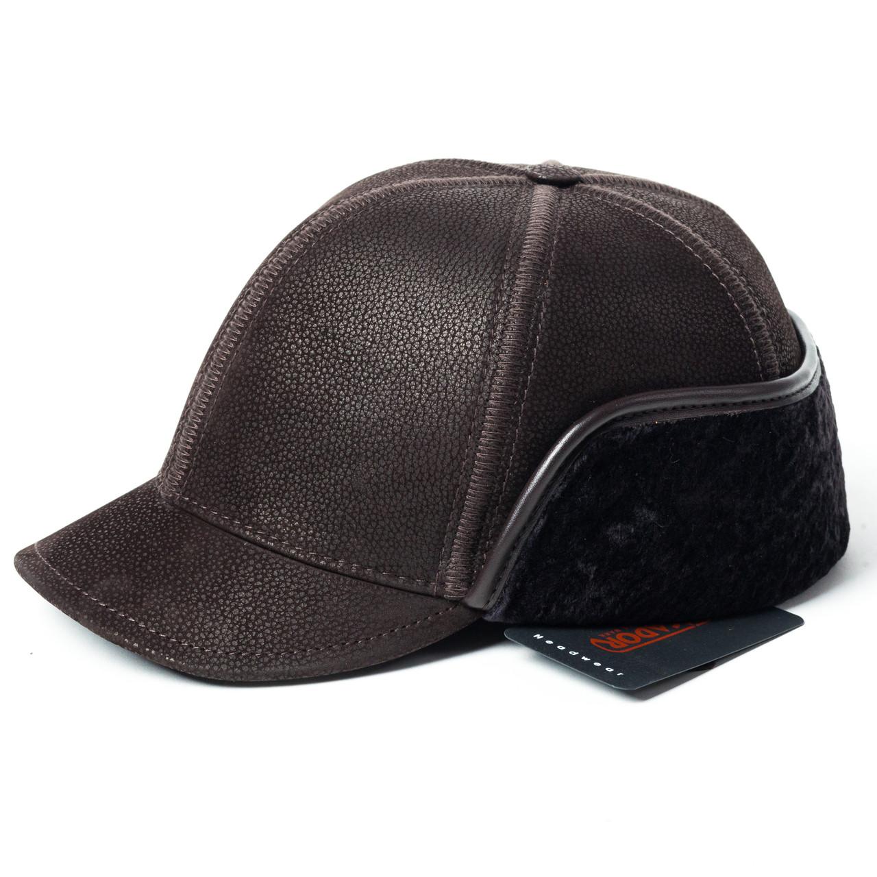Кепка Жокей мужская замшевая коричневая Picador ЖСН-2-12-2