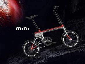 Електровелосипед Xiaomi UMA MINI Сіро-червоний, фото 2