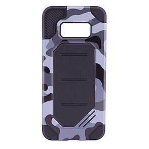 Чохол-накладка Motomo для Samsung G950 S8 Military ser. Камуфляж Сірий, фото 2