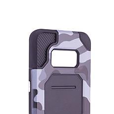 Чохол-накладка Motomo для Samsung G950 S8 Military ser. Камуфляж Сірий, фото 3