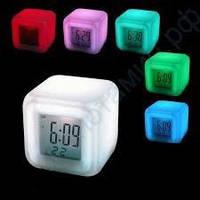 """Изменяющие цвета цифровые светодиодные часы-будильник с ЖК-дисплеем """"Световой Куб"""" - MoodiCare Color Change"""