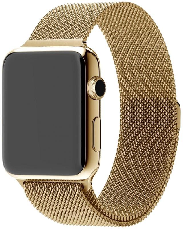 Ремешок для Apple iWatch 38mm Milanese Loop Band ser. Golden (993664)
