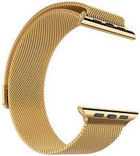 Ремешок для Apple iWatch 38mm Milanese Loop Band ser. Golden (993664), фото 3