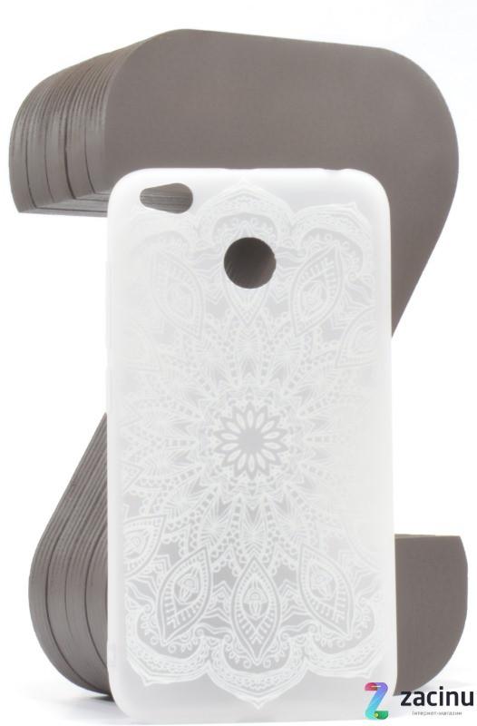 Чохол-накладка для Xiaomi Redmi 4X TPU Soft touch ser. Візерунок білий Матовий/прозорий