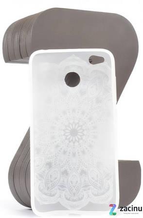 Чохол-накладка для Xiaomi Redmi 4X TPU Soft touch ser. Візерунок білий Матовий/прозорий, фото 2