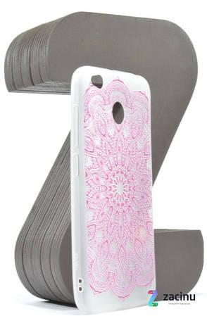 Чохол-накладка для Xiaomi Redmi 4X TPU Soft touch ser. Візерунок рожевий Матовий/прозорий, фото 2