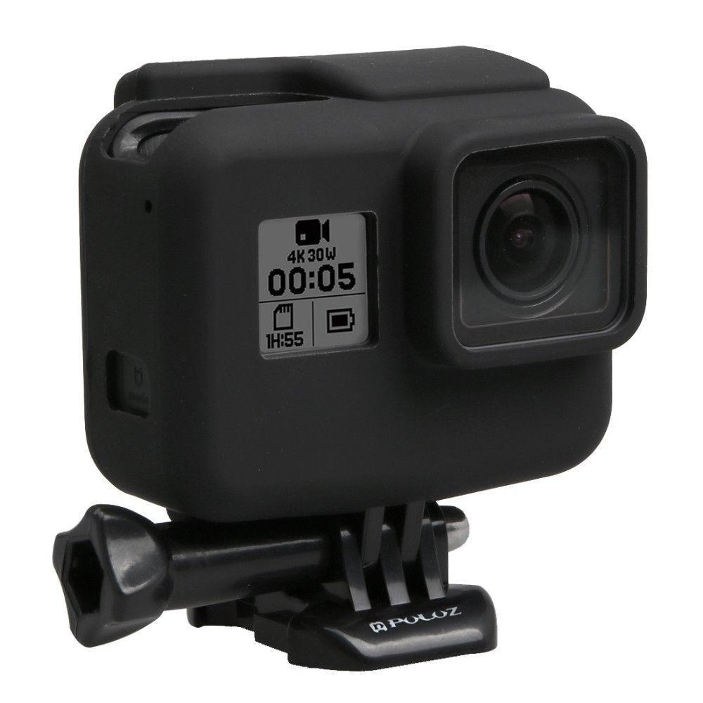 Резиновый защитный чехол для GoPro Hero 5/6/7 Black, Hero 2018 в стандартной рамке черный
