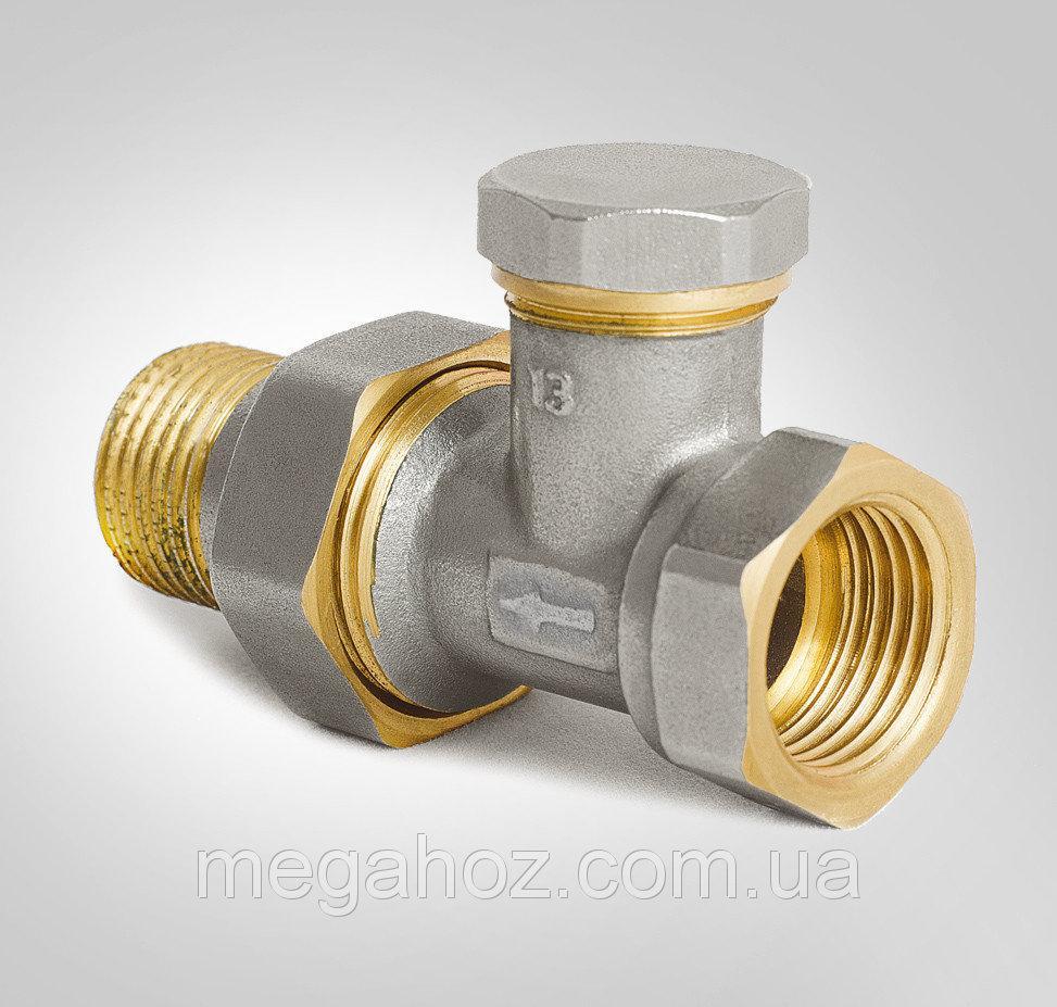 Кран регулирующий для радиатора нижний, прямой Koer KR.904