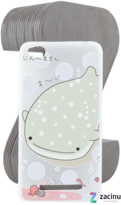 Чохол-накладка TPU для Xiaomi Redmi 4A Fashion ZOO ser. Кит Прозорий/матовий