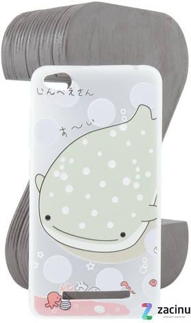 Чохол-накладка TPU для Xiaomi Redmi 4A Fashion ZOO ser. Кит Прозорий/матовий, фото 2