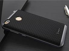 Чохол-накладка iPaky для Xiaomi Redmi 4X TPU+PC Чорний/сірий, фото 3