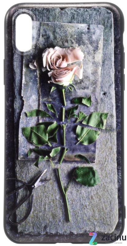 "Чехол накладка OMEVE для iPhone X (5.8 "") Pictures ser. 3D Pоза Серый"