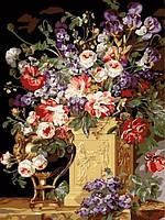 Раскраски для взрослых 30×40 см. Корзина и ваза с цветами, фото 1