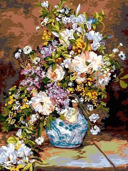 Раскраски для взрослых 30×40 см. Весенний букет